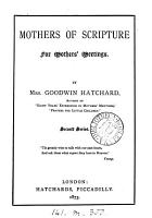 Mothers of Scripture  readings  for mothers  meetings PDF