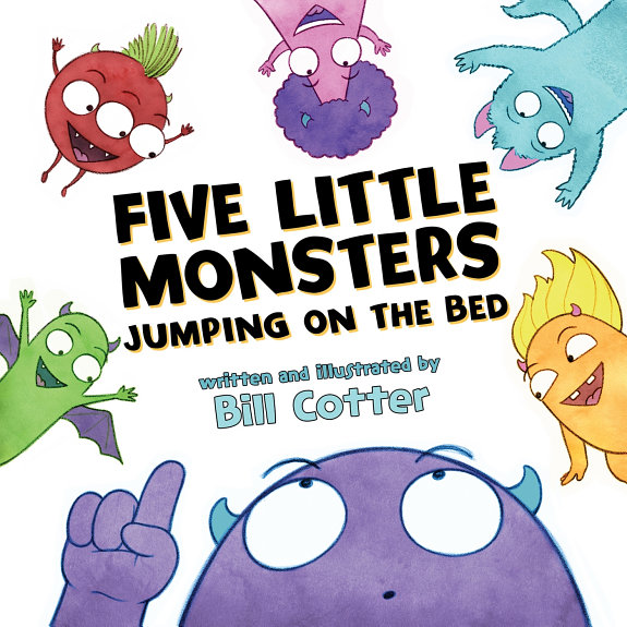 Five Little Monsters Jumping on the Bed PDF