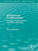 Intentional Communities  Routledge Revivals  PDF