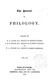 The Journal of Philology: Volume 3
