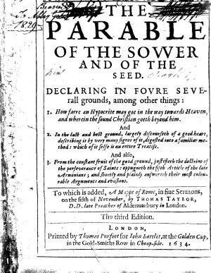 The parable of the sower and of the seed  To which is added  A mappe of Rome PDF