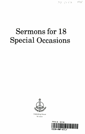 Sermons For 18 Special Occasions