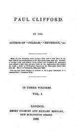 Paul Clifford: Volume 1