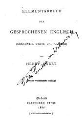 Elementarbuch des gesprochenen Englisch (Grammatik, Texte und Glossar).