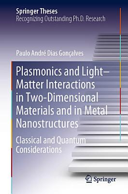 Plasmonics and Light–Matter Interactions in Two-Dimensional Materials and in Metal Nanostructures