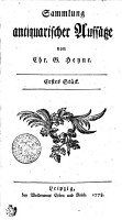 Sammlung antiquarischer Aufs  tze PDF