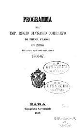 Programma dell'imp. reg. ginnasio superiore distato in Zara