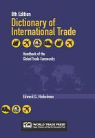 DICTIONARY OF INTERNATIONAL TRADE 8th Edition PDF