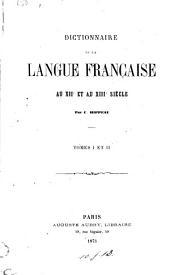 Dictionnaire de la langue française au XIIe et au XIIIe siècle: Volume2