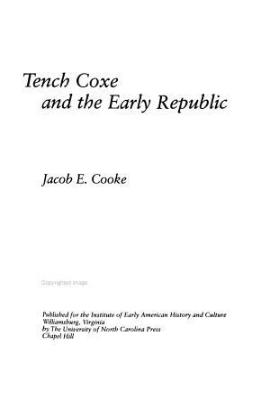 Tench Coxe and the Early Republic
