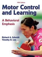 Motor Control and Learning 5th Edition PDF