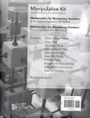 Mathematics For Elementary Teachers Manipulative Kit Book PDF