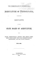 Agriculture of Pennsylvania PDF