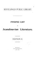 Finding List of Scandinavian Literature PDF