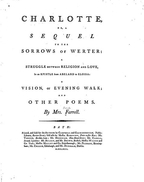 Download Charlotte  Or  A Sequel to The Sorrows of Werter Book