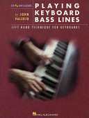 Playing Keyboard Bass Lines Book