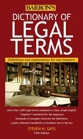 Dictionary of Legal Terms, 5th edition