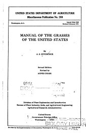 Manual of the grasses of the United States: Volume 1
