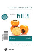 Starting Out with Python  Student Value Edition PDF
