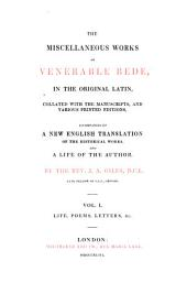 The Complete Works of Venerable Bede: In the Original Latin, Collated with the Manuscripts, and Various Printed Editions, Volume 1