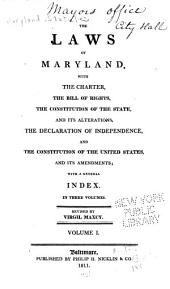The Laws of Maryland: 1692-1785