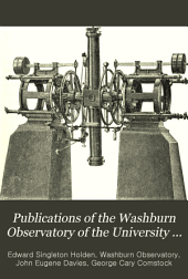 Publications of the Washburn Observatory of the University of Wisconsin: Volume 2