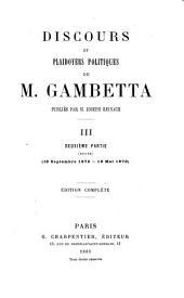 Discours et plaidoyers politiques de Gambetta: Volume3,Partie2