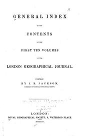 The Journal of the Royal Geographical Society of London: Volumes 1-10