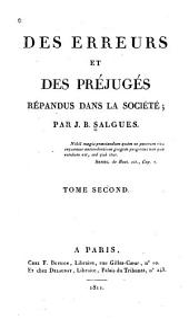 Des erreurs et des préjugés répandus dans la société: Volume2