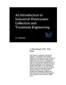 An Introduction to Industrial Wastewater Collection and Treatment Engineering PDF