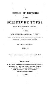 Course of Lectures on the Scripture Types