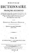Tome II  qui contient les lettres I  Z de l alphabet francois explique par l allemand PDF