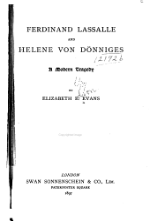 Ferdinand Lassalle and Helene Von Dönninges
