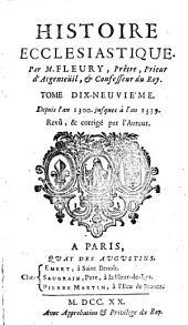 Histoire écclesiastique: Volume19