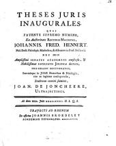 Theses juris inaugurales: Volume 1
