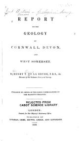Report on the Geology of Cornwall, Devon, and West Somerset: Index