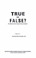 True Or False  PDF