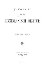 Tijdschrift voor het binnenlandsch bestuur: Volume 11