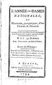L'Annee des dames nationales; ou histoire jour-par-jour, d'une femme de France: Volume5