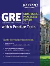 GRE 2016 Strategies, Practice, and Review with 4 Practice Tests: Book + Online