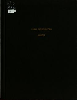 Rural Depopulation PDF