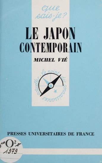 Le Japon contemporain PDF