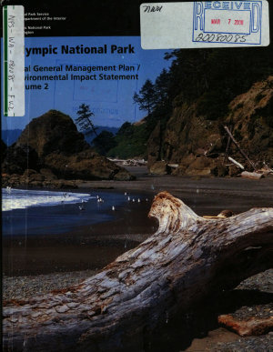 Olympic National Park  N P    General Management Plan PDF