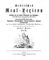 Biblisches Real Lexicon PDF