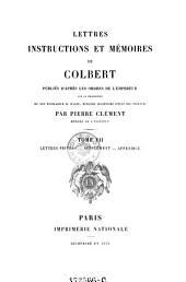Lettres privées - supplément - appendice: Volume 7