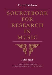 Sourcebook for Research in Music  Third Edition PDF