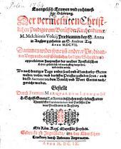 Evangelisches Examen ... der vermeinten christlichen Predigt vom Beruff der Kirchendiener, Melchioris Volcii