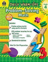 Daily Warm Ups  Problem Solving Math Grade 4 PDF