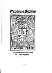 Diodorus Siculus Bibliothecae Scheftlaniensis