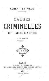 Causes criminelles et mondaines de